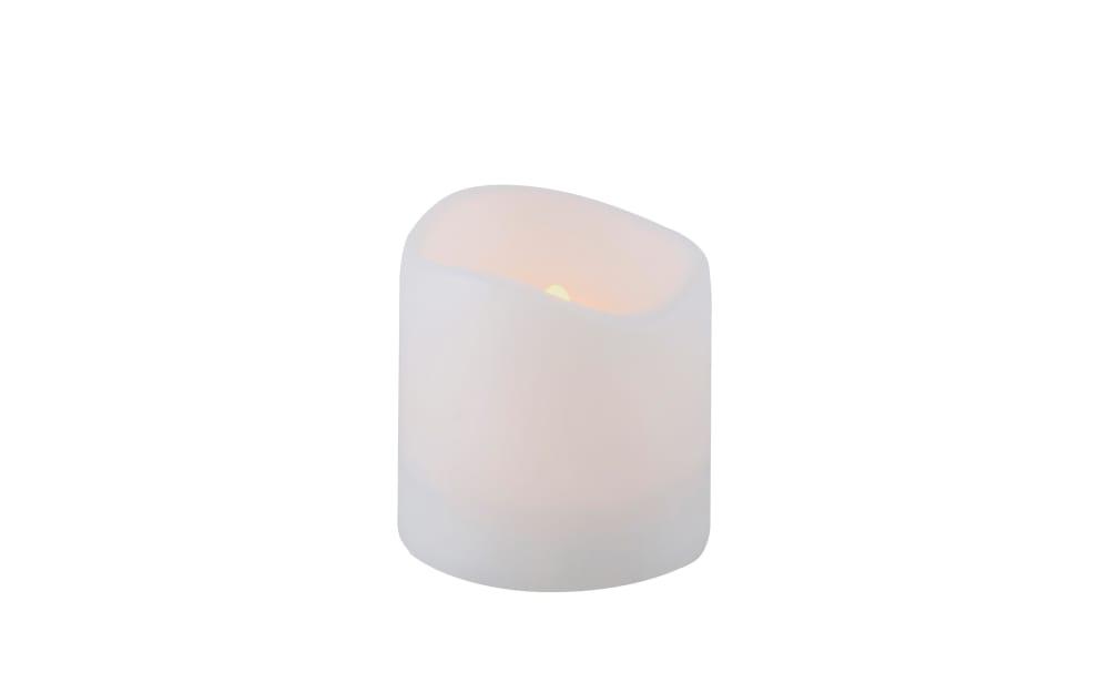 Paul Neuhaus Solar Kerze in weiß/Flackereffekt, 10 cm
