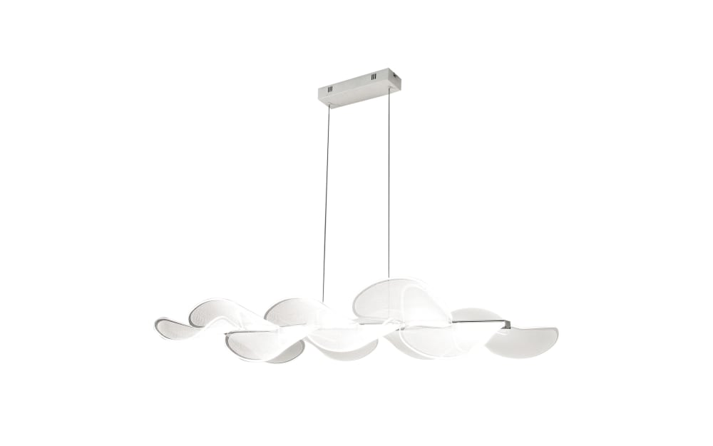 Fabas Luce LED-Pendelleuchte Sylvie in weiß