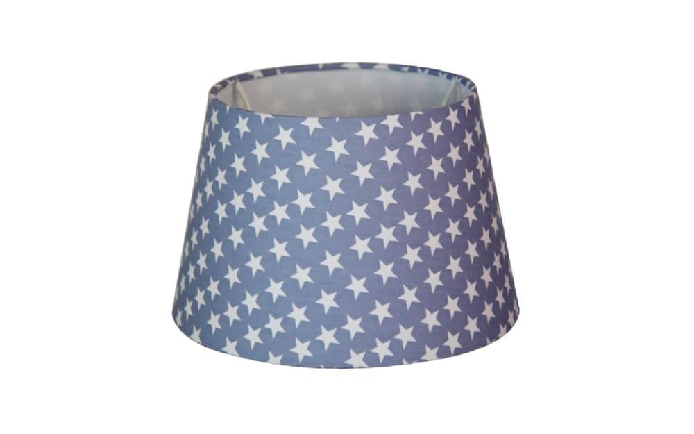 Various Lampenschirm Sterne in blau, 25 cm