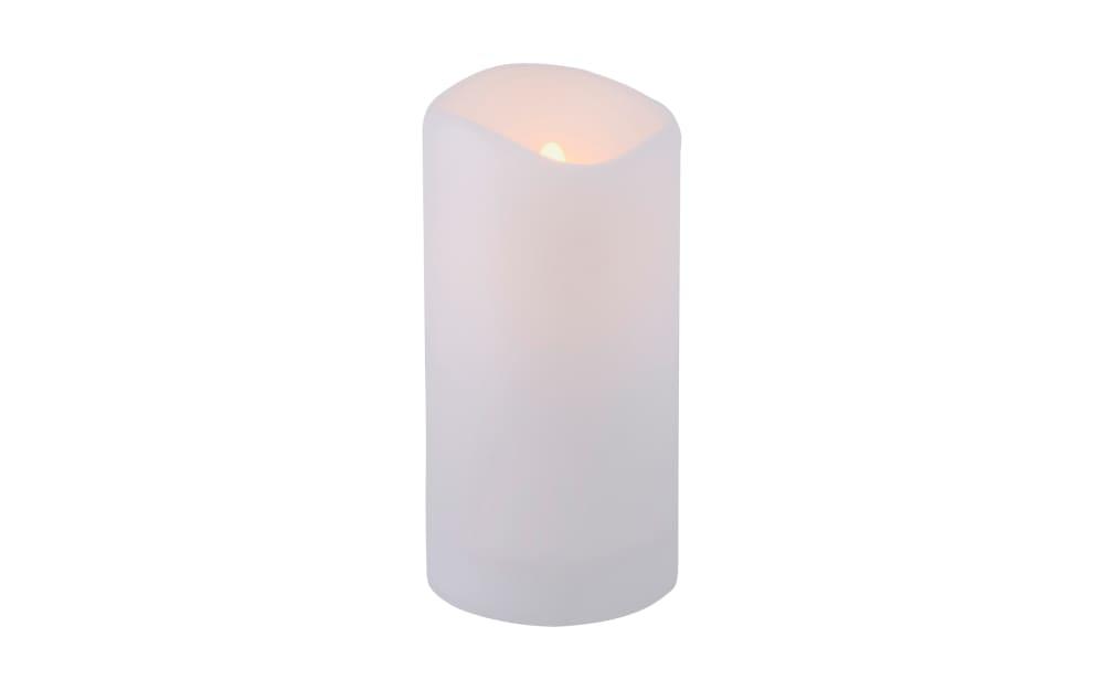 Leuchtendirekt Solar Kerze in weiß mit Flackereffekt, 20 cm