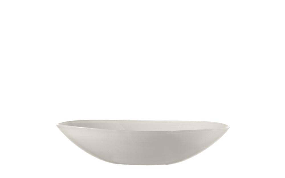 LEONARDO Schale oval Alabastro in weiß, 32 cm
