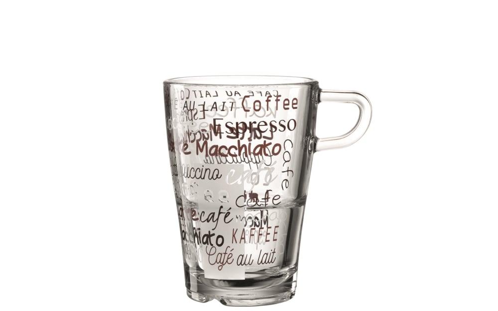 LEONARDO Latte Macchiato Tasse Senso Cafe, 350 ml