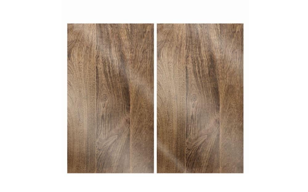 LEONARDO Herdabdeckplatten Cucina Holz, 30 x 52 cm