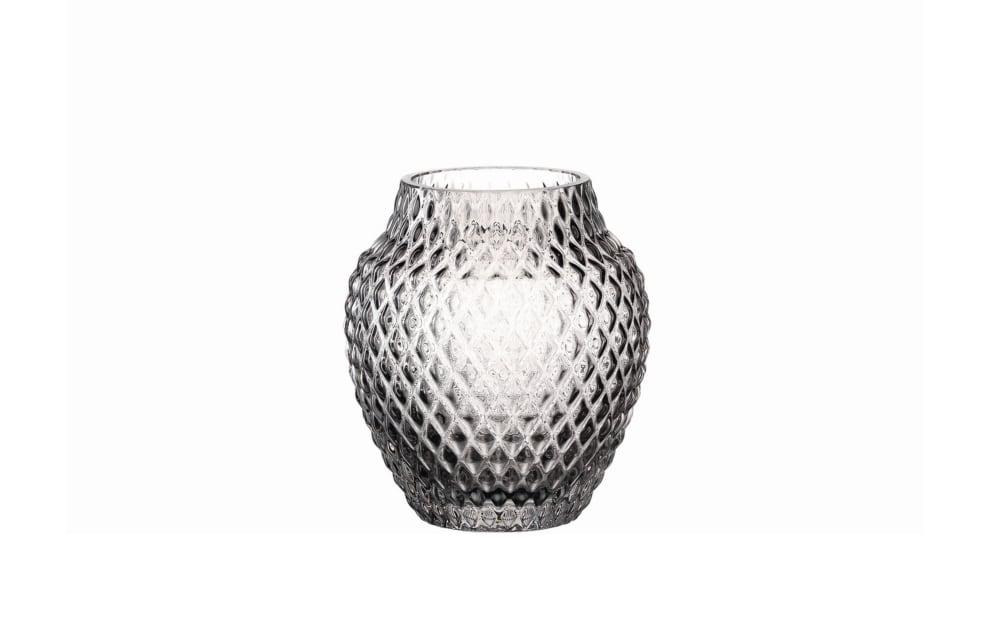 LEONARDO Vase Poesia in grau, 11 cm