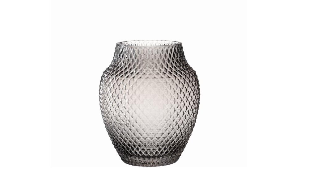 LEONARDO Vase Poesia in grau, 23 cm