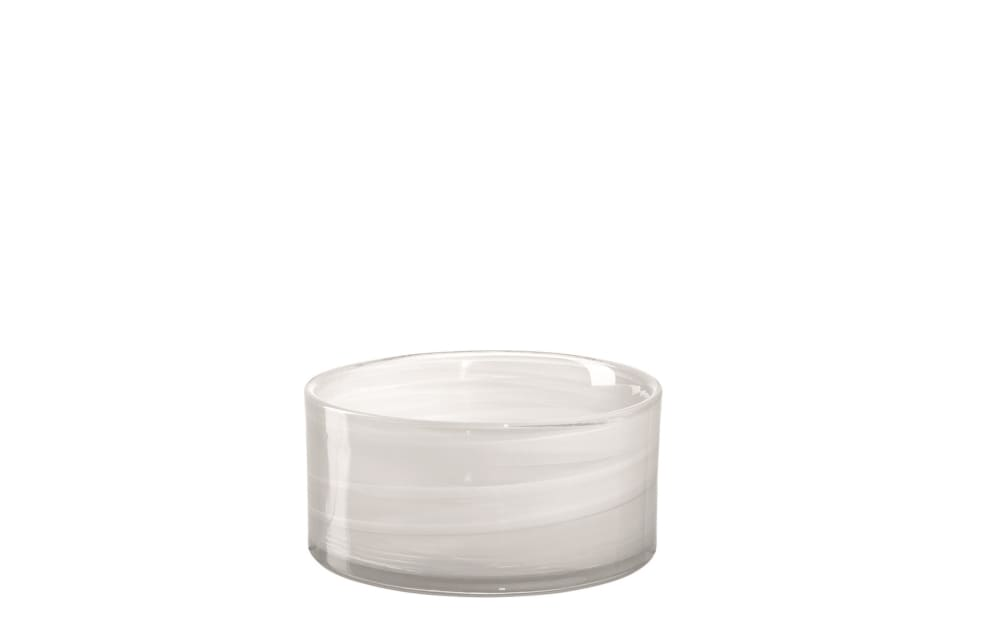 Glas Koch Schale Savona in weiß, 12 cm