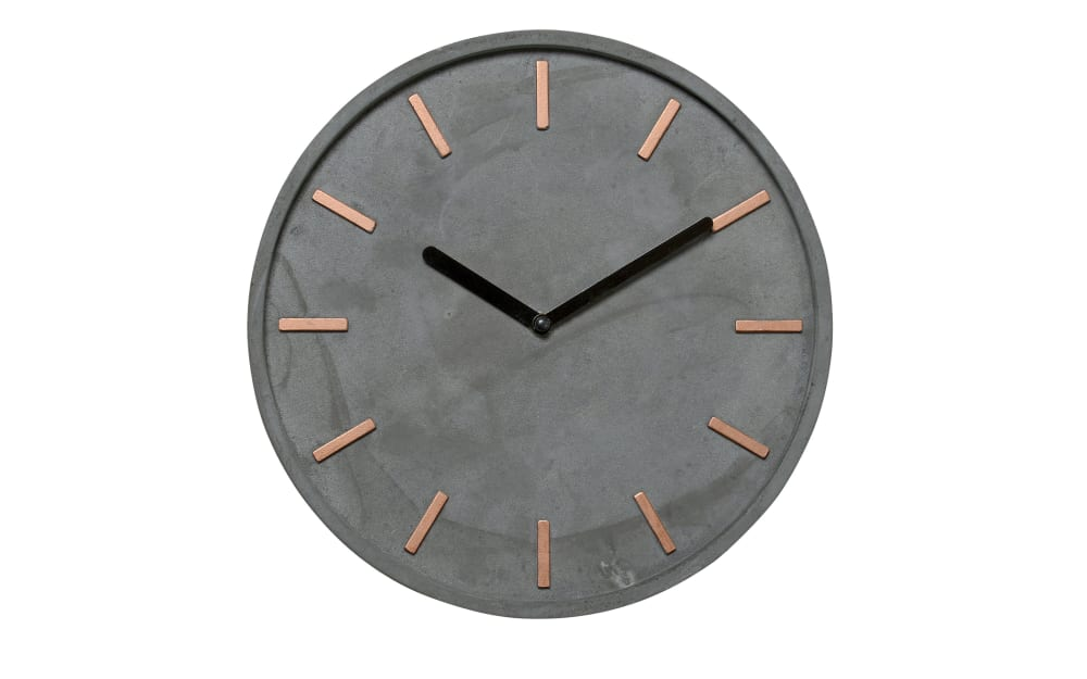 Boltze Wanduhr Gela in grau, 28 cm