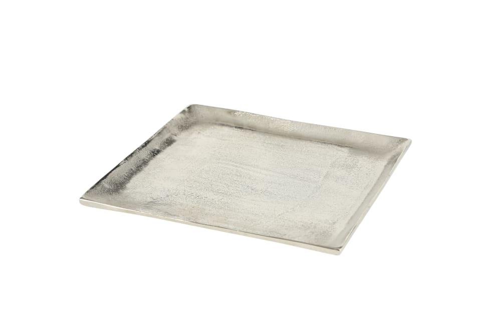 Boltze Deko-Teller Flaire in silber, 25 cm