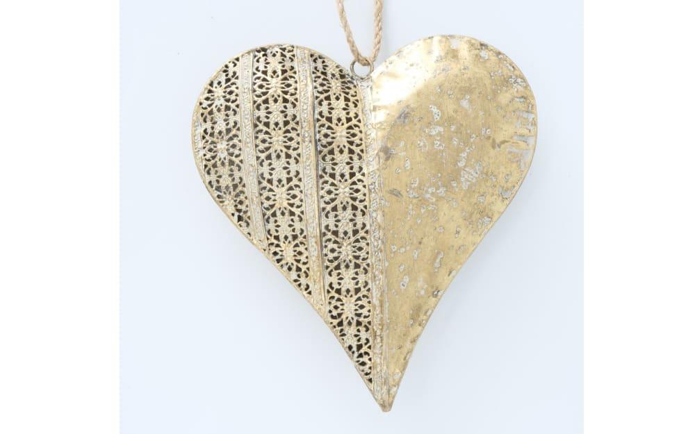 Boltze Dekoanhänger Cosima Herz in gold, 6 cm