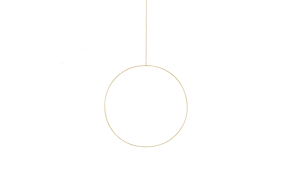 Boltze Dekohänger Rumba in gold, 50 cm