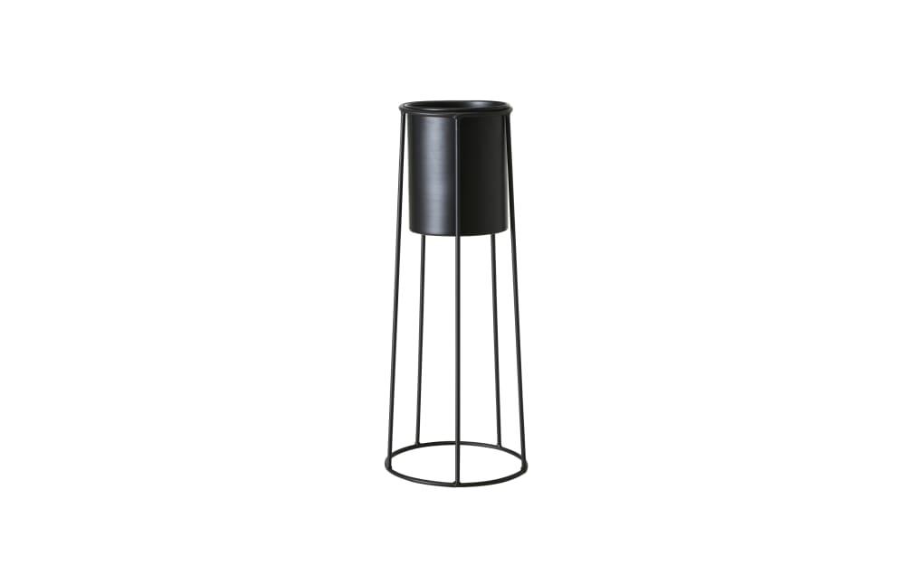 Boltze Pflanzentopf mit Metallgestell in schwarz, 65 cm