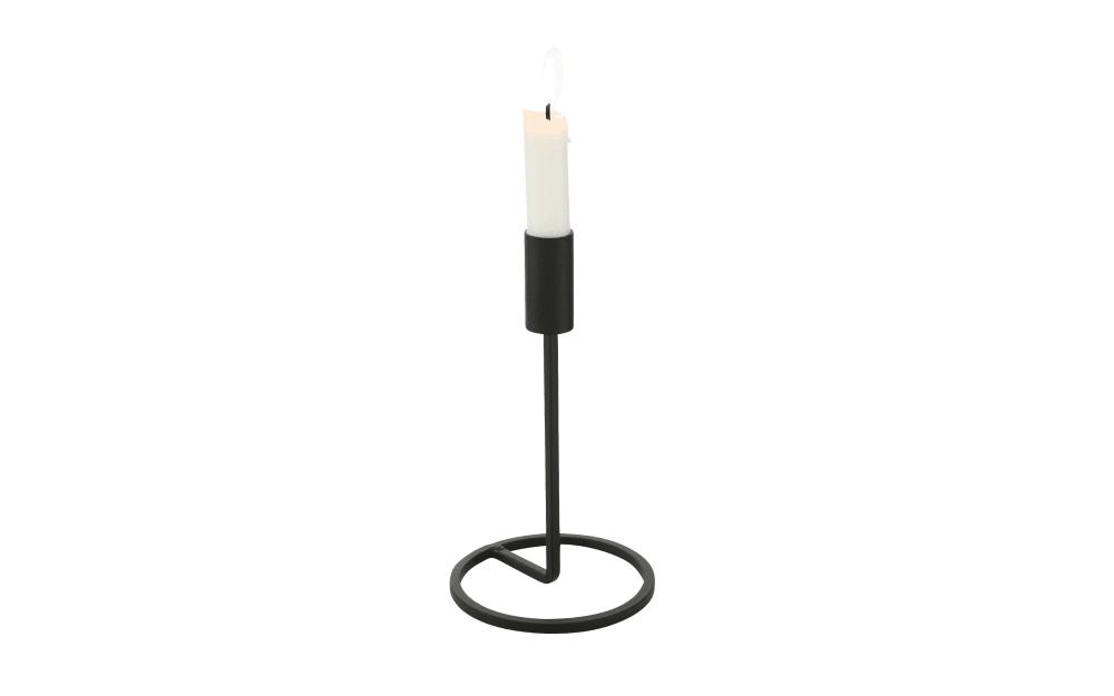 Boltze Kerzenhalter Fio in schwarz, 20 cm