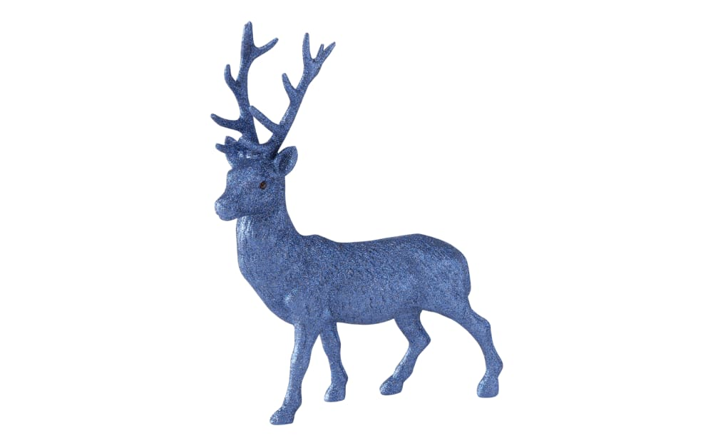 Boltze Hirsch Figur Josa in dunkelblau, 40 cm