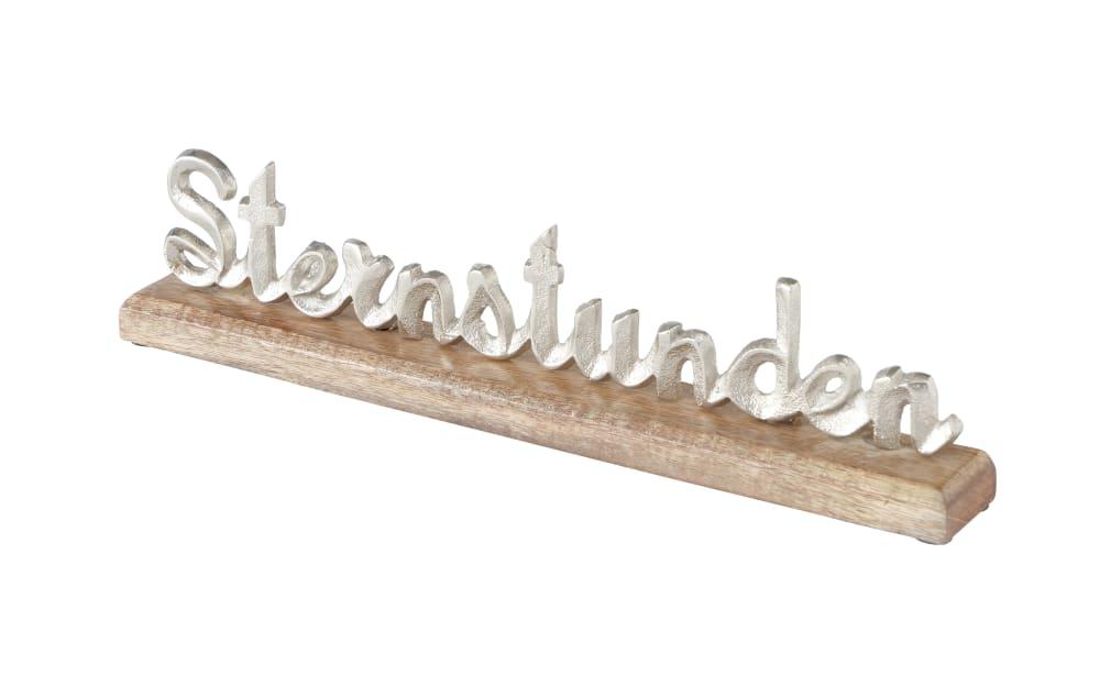 Boltze Schriftzug Sternstunde, 5 x 10 cm