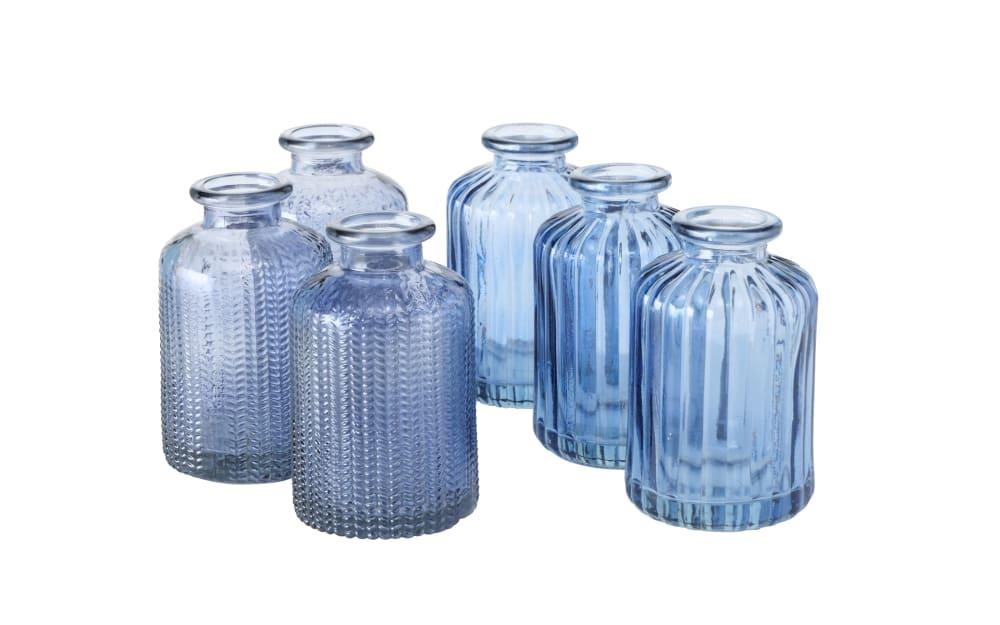 Boltze Vase Merula in blau, 10 cm