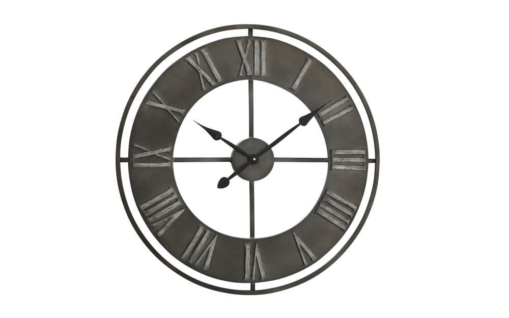 Boltze Wanduhr Duro in schwarz, 78 cm