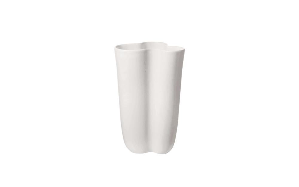 Asa Selection Vase art deco in weiß, 28,5 cm