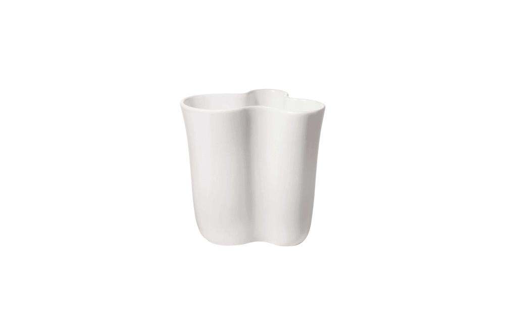 Asa Selection Vase art deco in weiß, 21,5 cm