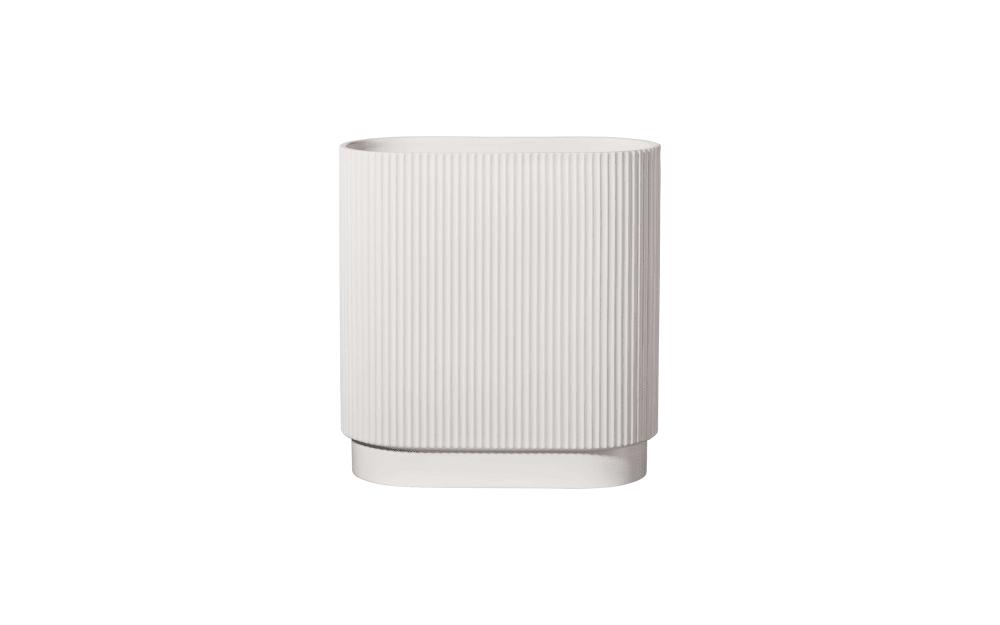 Asa Selection Vase art deco in weiß, 30 cm