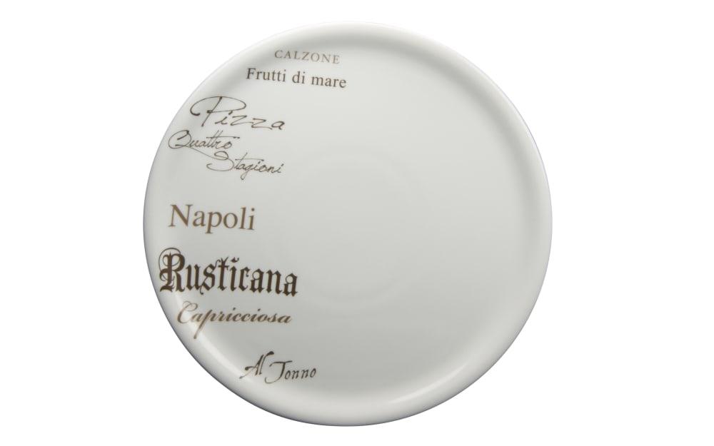 Creatable Pizzateller Gustoso in weiß mit Schrift-Dekor