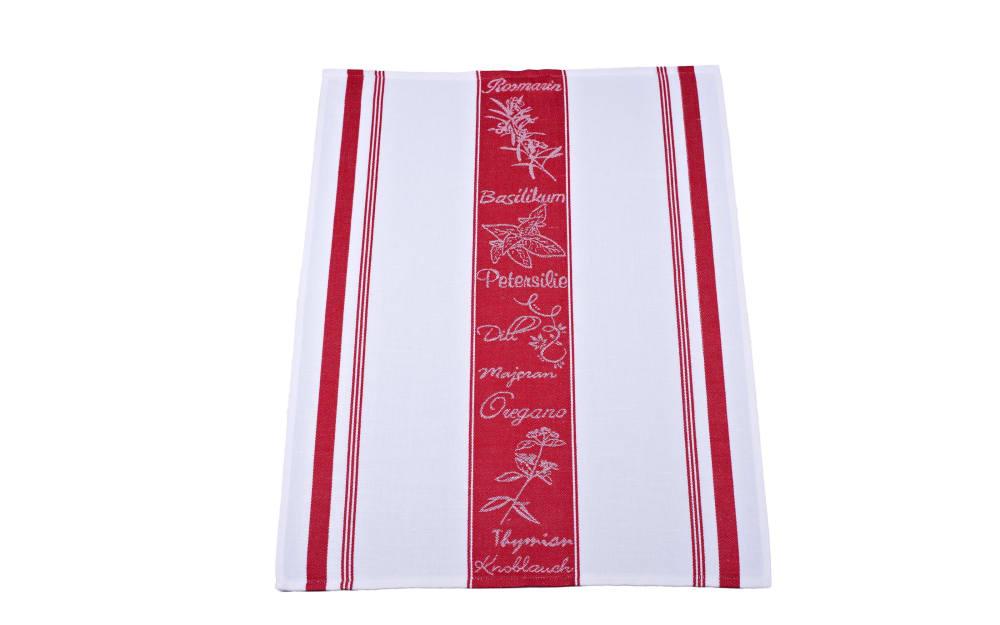 Ross Geschirrtuch in rot/weiß, 50 x 70 cm