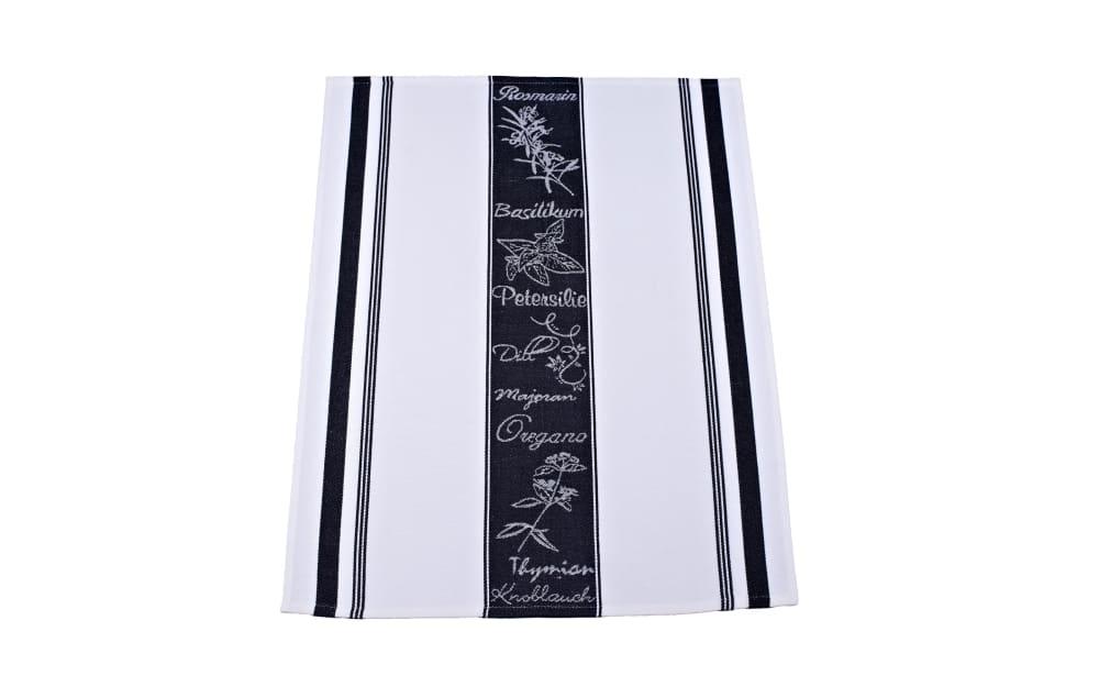 Ross Geschirrtuch in schwarz/weiß, 50 x 70 cm