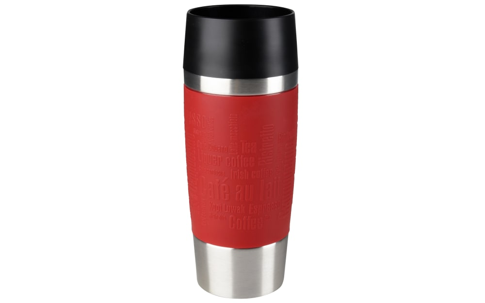 Emsa Iso-Trinkbecher Travel Mug in rot, 0,36 l
