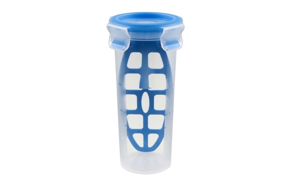 Emsa Mixbecher Clip & Close in blau, 0,5 l