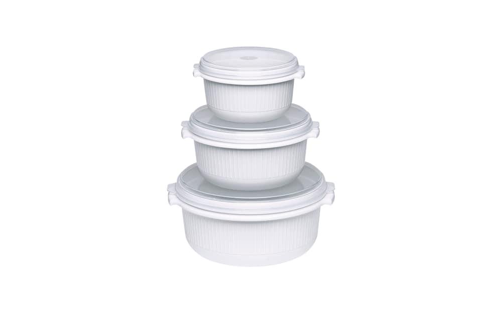 Emsa Mikrowellen-Set Micro Family in weiß, 3-teilig