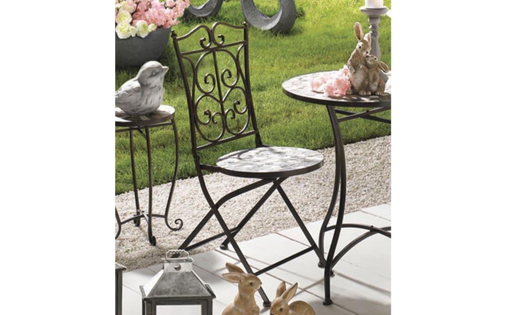 Decoris Stuhl aus Eisen in braun, 46 x 92 x 39 cm