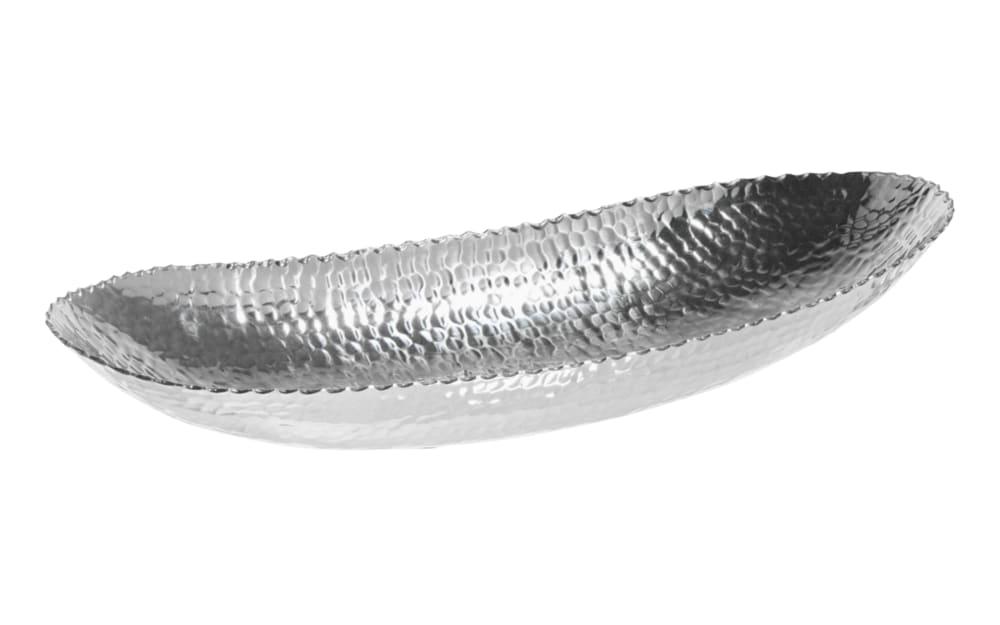 Casa Nova Schale aus Aluminium in silber, 51 x 8 x 20 cm