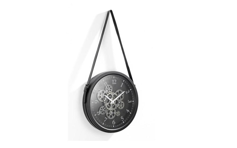 Casa Nova Wanduhr aus Metall, 38 x 38 x 6,5 cm