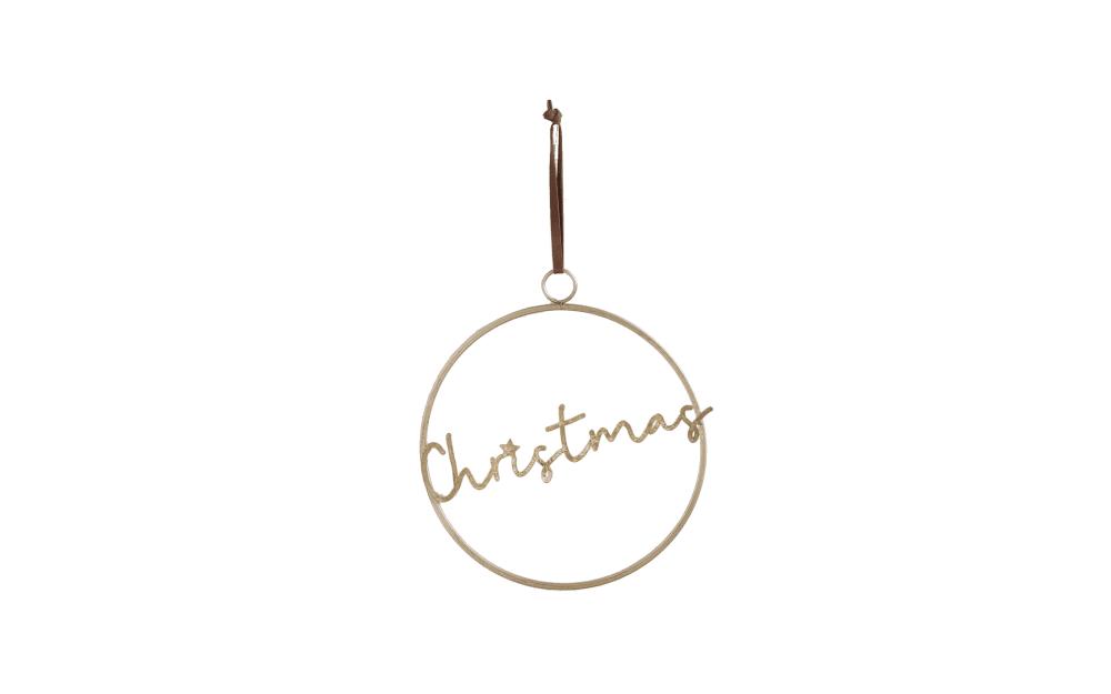 Casa Nova Anhänger Christmas in gold, 30 x 33.5 x 60 cm
