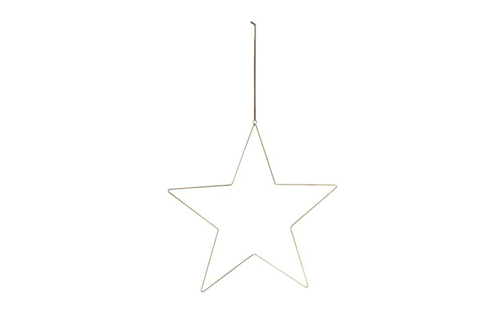 Casa Nova Stern zum Aufhängen L in gold, 46.5 x 44.5 cm