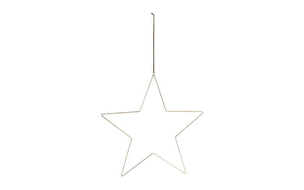 Casa Nova Stern zum Aufhängen S in gold, 57.5 x 54.5 cm