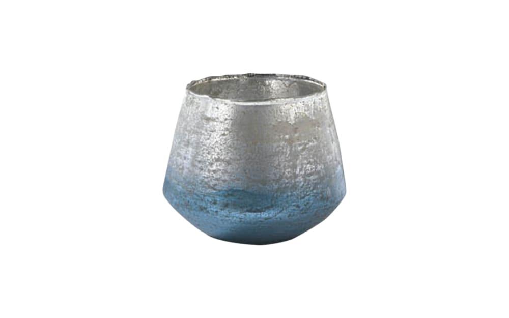 Casa Nova Vase in blau/silber, 13 cm