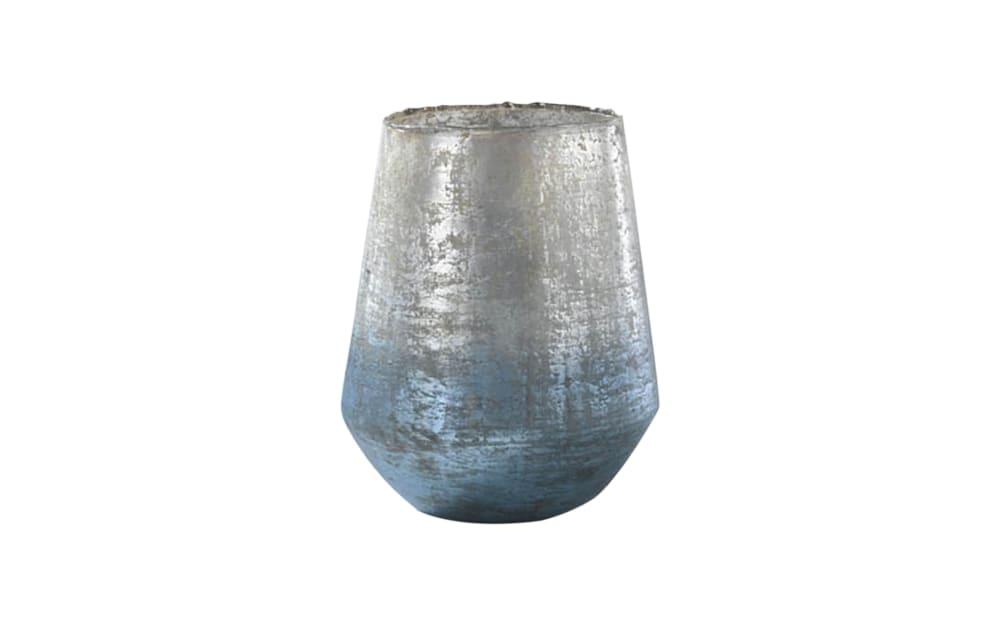 Casa Nova Vase in blau/silber, 20 cm