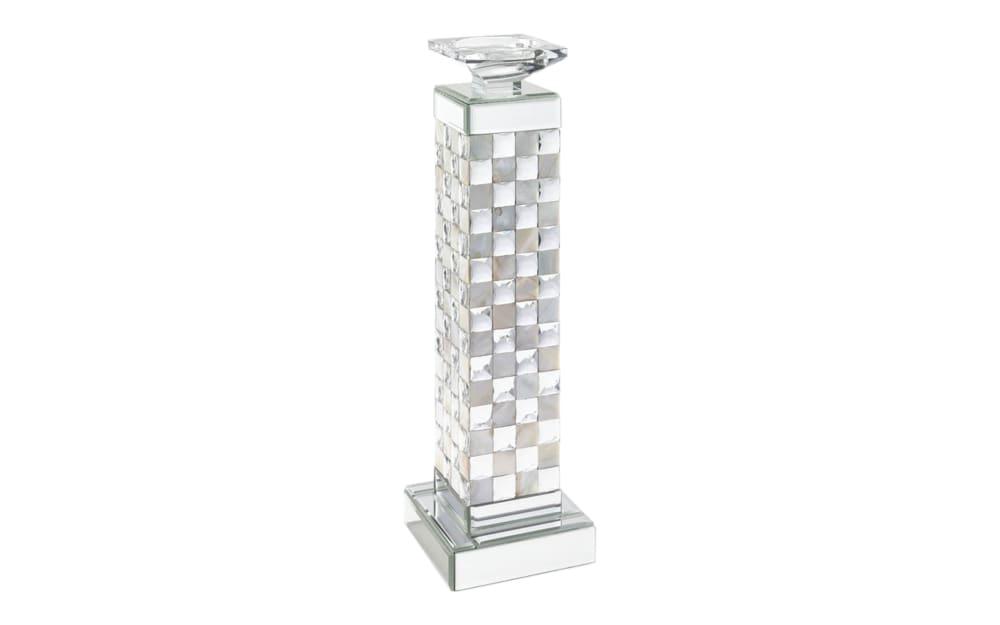 Casa Nova Kerzenständer in silber, 12,7 x 42,3 x 12,7 cm
