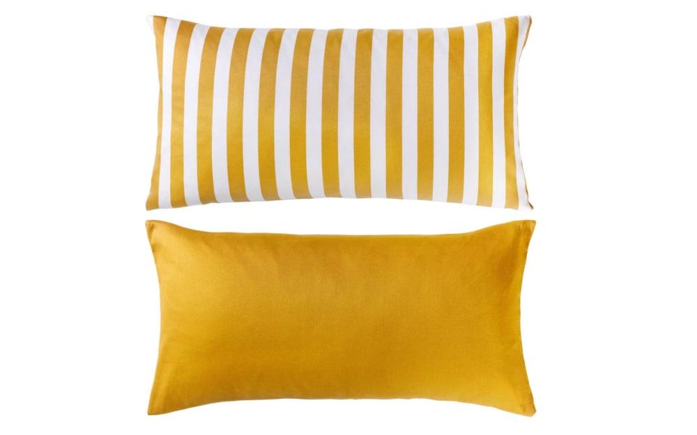 Casa Nova Kissenhülle Satin in gelb/weiß, 40 x 80 cm
