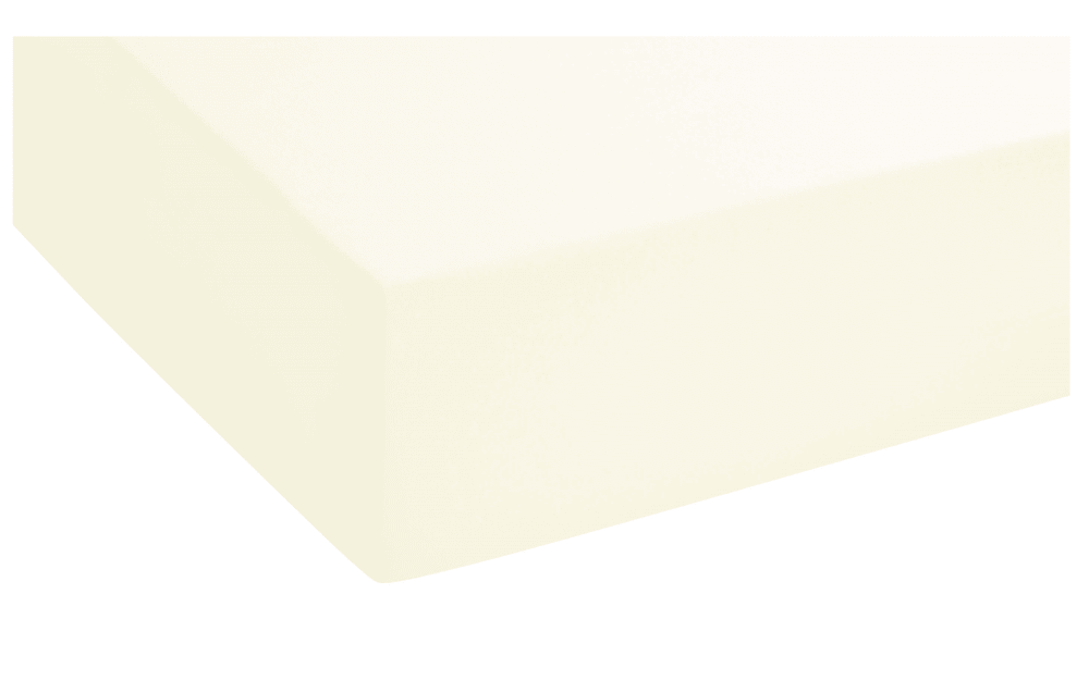 Biberna Topper-Spannbetttuch in creme, 90 x 190 cm