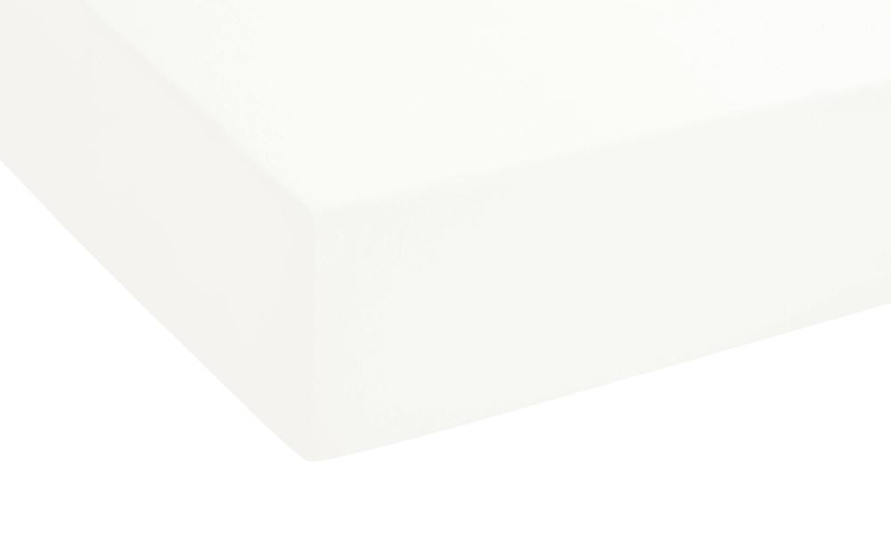 Biberna Topper Spannbetttuch in weiß, 180 x 200 x 8 cm