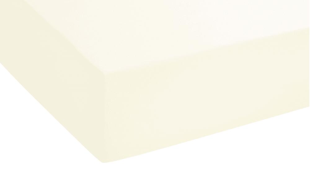 Biberna Topper Spannbetttuch in creme, 180 x 200 x 8 cm