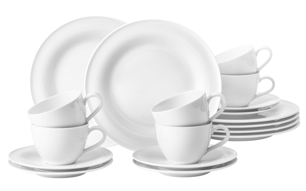 Seltmann Weiden Kaffeeservice Beat in weiß, 18-teilig