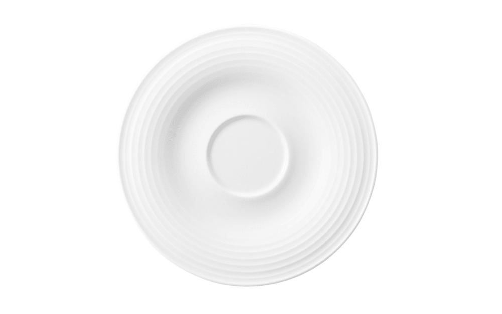 Seltmann Weiden Kombi-Untertasse klein Beat in weiß, 13,5 cm