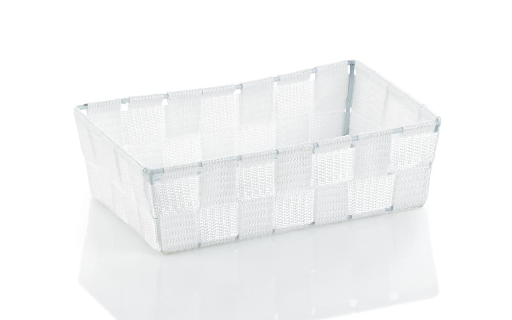 Kela Aufbewahrungskorb Alvaro in weiß, 23 x 6 x 15 cm