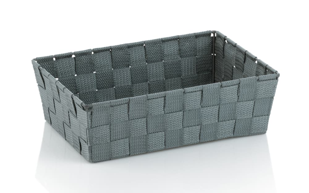 Kela Aufbewahrungskorb Alvaro in grau, 29,5 x 20,5 cm
