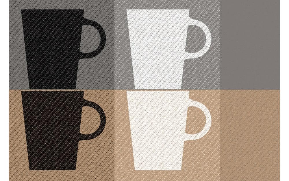 Kela Tischset mit Tassen-Motiv in grau, 28,5 x 43,5 cm