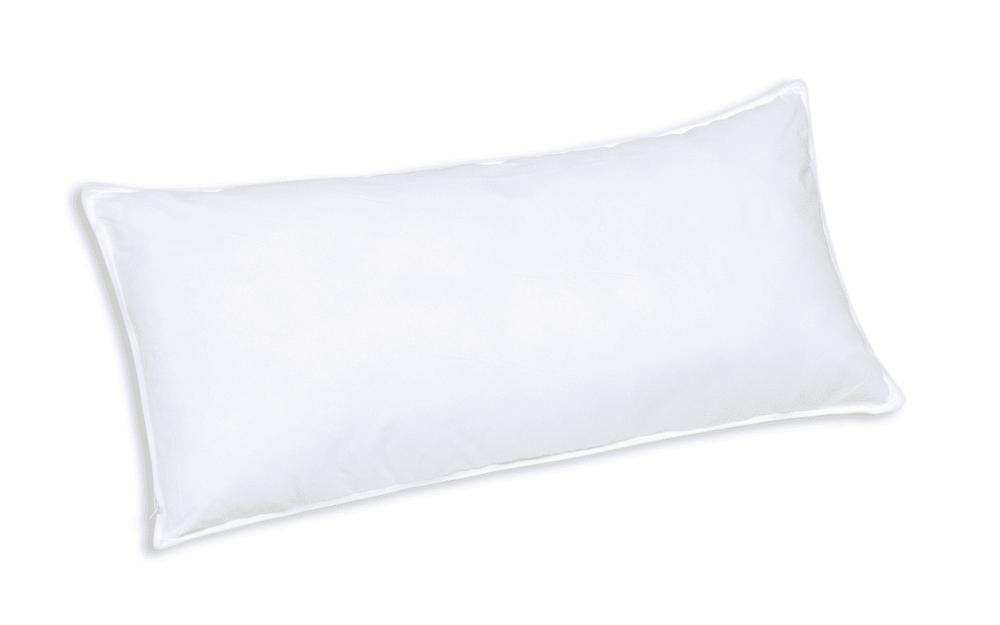 F.A.N. Faserbällchen-Kissen Kansas in weiß, 40 x 80 cm
