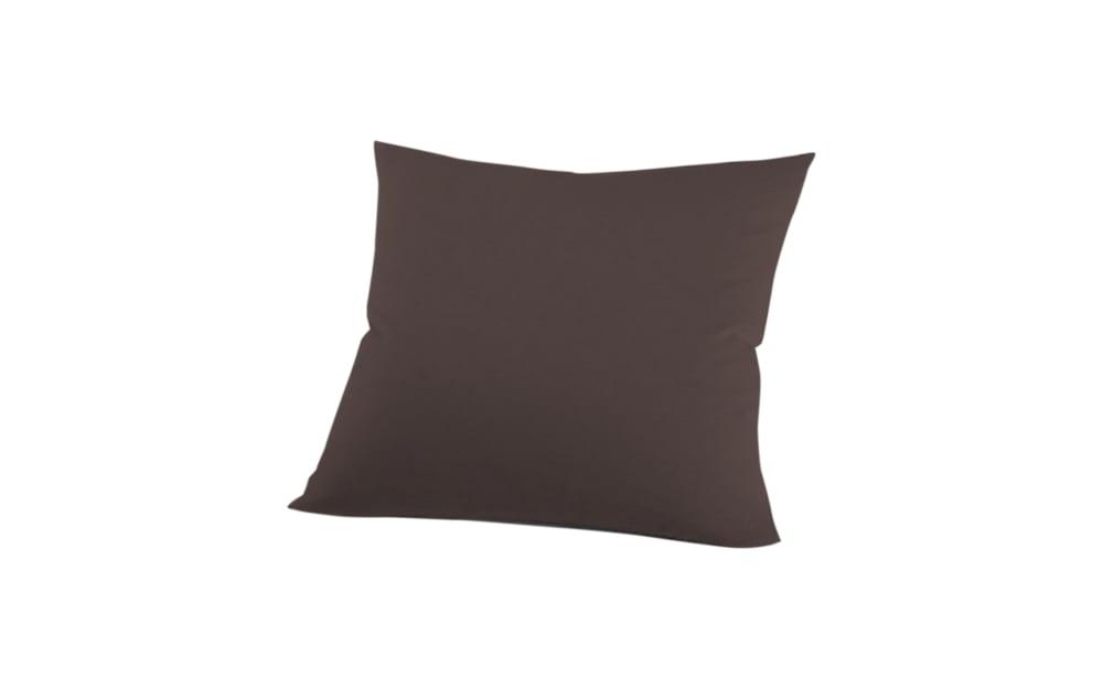 Schlafgut Kissenbezug Mako Jersey in schoko, 80 x 80 cm