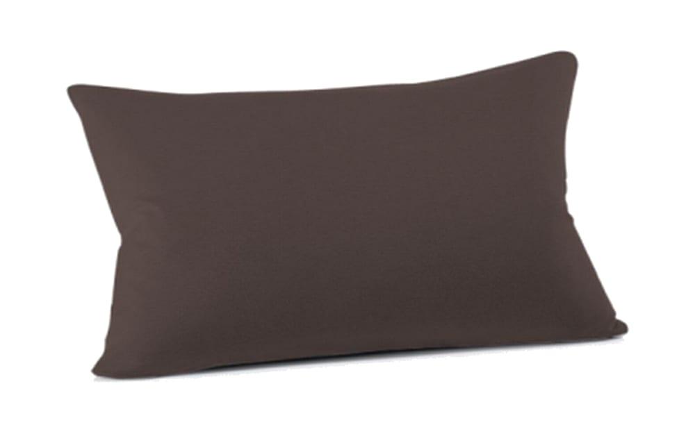 Schlafgut Kissenbezug Mako Jersey in schoko, 40 x 60 cm